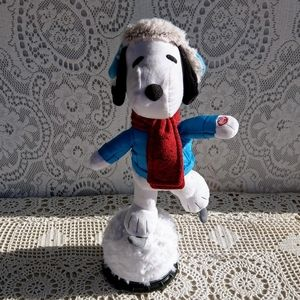 Peanuts Ice Skating Snoopy Musical Motion Animated